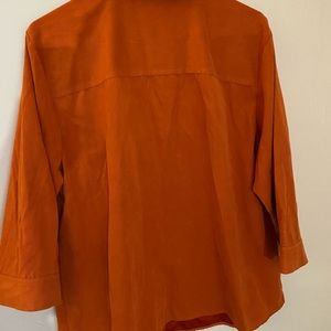 Long sleeved micro suede blouse.  Size 18/20